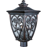 Maxim 40120CDOB Newbury VX 3 Light 22 inch Oriental Bronze Outdoor Pole/Post Lantern