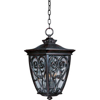 Newbury VX 3 Light 12 inch Oriental Bronze Outdoor Hanging Lantern