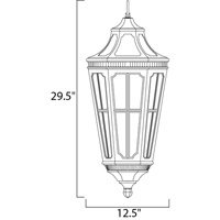 Maxim 40157CDSE Beacon Hill VX 3 Light 13 inch Sienna Outdoor Hanging Lantern alternative photo thumbnail