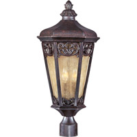 Maxim 40170NSCU Lexington VX 3 Light 24 inch Colonial Umber Outdoor Pole/Post Lantern