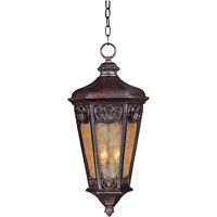 Maxim 40177NSCU Lexington VX 3 Light 14 inch Colonial Umber Outdoor Hanging Lantern