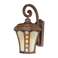 Maxim Lighting Lake Shore VX 1 Light Outdoor Wall Mount in Antique Pecan 40184LTAP