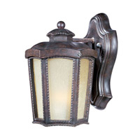 Pacific Heights VX 1 Light 10 inch Mottled Leather Outdoor Wall Mount