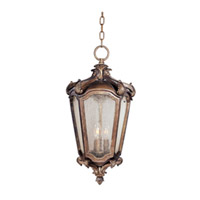 Maxim Lighting Bastille VX 3 Light Outdoor Hanging Lantern in Walnut 40228CNWN