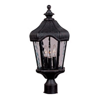 Maxim Lighting Garden VX 3 Light Outdoor Pole/Post Lantern in Oriental Bronze 40270WGOB