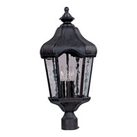 Maxim Lighting Garden VX 3 Light Outdoor Pole/Post Lantern in Oriental Bronze 40271WGOB