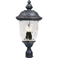 Carriage House VX 3 Light 27 inch Oriental Bronze Outdoor Pole/Post Lantern