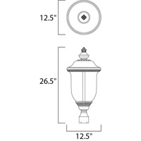 Maxim 40420WGOB Carriage House VX 3 Light 27 inch Oriental Bronze Outdoor Pole/Post Lantern alternative photo thumbnail