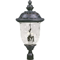 Maxim 40421WGOB Carriage House VX 3 Light 29 inch Oriental Bronze Outdoor Pole/Post Lantern