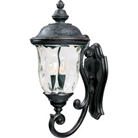 Maxim 40424WGOB Carriage House VX 3 Light 27 inch Oriental Bronze Outdoor Wall Mount