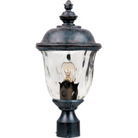 Maxim 40426WGOB Carriage House VX 1 Light 20 inch Oriental Bronze Outdoor Pole/Post Lantern