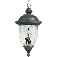 Maxim Lighting Carriage House VX 3 Light Outdoor Hanging Lantern in Oriental Bronze 40427WGOB