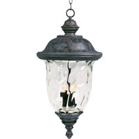 Maxim Lighting Carriage House VX 3 Light Outdoor Hanging Lantern in Oriental Bronze 40428WGOB photo thumbnail