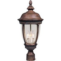 Maxim 40460CDSE Knob Hill VX 3 Light 23 inch Sienna Outdoor Pole/Post Lantern
