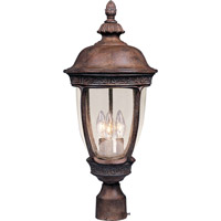 Maxim 40461CDSE Knob Hill VX 3 Light 28 inch Sienna Outdoor Pole/Post Lantern