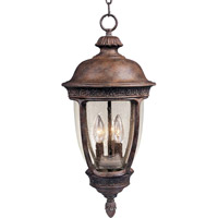 Maxim 40467CDSE Knob Hill VX 3 Light 10 inch Sienna Outdoor Hanging Lantern