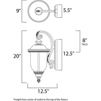 Maxim Lighting Carriage House VX 2 Light Outdoor Wall Mount in Oriental Bronze 40496WGOB alternative photo thumbnail