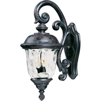 Maxim 40497WGOB Carriage House Vx 3 Light 27 inch Oriental Bronze Outdoor Wall Mount
