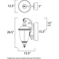 Maxim 40497WGOB Carriage House VX 3 Light 27 inch Oriental Bronze Outdoor Wall Mount alternative photo thumbnail