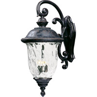 Maxim 40498WGOB Carriage House VX 3 Light 31 inch Oriental Bronze Outdoor Wall Mount