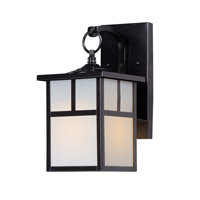 Maxim 4053WTBK Coldwater 1 Light 12 inch Black Outdoor Wall Mount