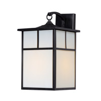Maxim 4054WTBK Coldwater 1 Light 16 inch Black Outdoor Wall Mount
