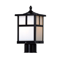 Maxim 4055WTBK Coldwater 1 Light 12 inch Black Outdoor Pole/Post Mount