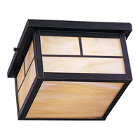 Maxim 4059HOBU Coldwater 2 Light 9 inch Burnished Outdoor Ceiling Mount