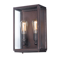 Maxim 4067CLOI Pasadena 2 Light 14 inch Oil Rubbed Bronze Outdoor Wall Sconce