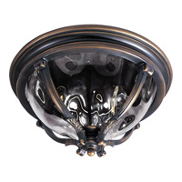 Maxim Lighting Camden VX 3 Light Outdoor Ceiling Mount in Golden Bronze 41420WGGO
