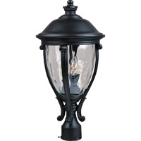 Maxim 41421WGBK Camden VX 3 Light 23 inch Black Outdoor Pole/Post Lantern