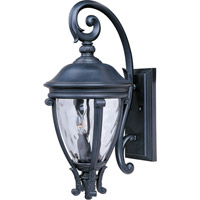 Maxim 41425WGBK Camden VX 3 Light 24 inch Black Outdoor Wall Mount