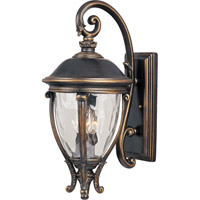 Maxim 41425WGGO Camden VX 3 Light 24 inch Golden Bronze Outdoor Wall Mount