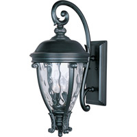 Maxim 41426WGBK Camden VX 3 Light 29 inch Black Outdoor Wall Mount