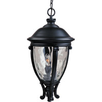 Maxim 41429WGBK Camden VX 3 Light 13 inch Black Outdoor Hanging Lantern