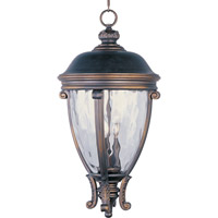 Maxim Lighting Camden VX 3 Light Outdoor Hanging Lantern in Golden Bronze 41429WGGO