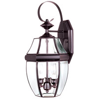 Maxim Lighting South Park 3 Light Outdoor Wall Mount in Burnished 4191CLBU