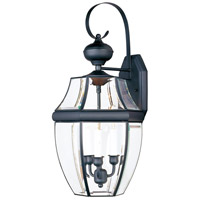 Maxim Lighting South Park 3 Light Outdoor Wall Mount in Black 4192CLBK