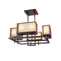 Maxim Lighting Hennesy 8 Light Linear Pendant in Oil Rubbed Bronze 43446CSOI