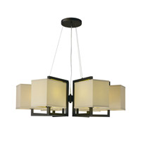 Maxim Lighting Baldwin 6 Light Pendant in Dark Bronze 43556LNDBZ