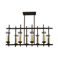 Maxim Lighting Midtown LED 8 Light Linear Pendant in Gold Bronze 43747CLGB