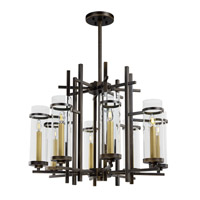 Maxim Lighting Midtown LED 6 Light Chandelier in Gold Bronze 43748CLGB