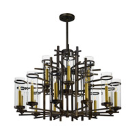Maxim Lighting Midtown LED 18 Light Chandelier in Gold Bronze 43749CLGB