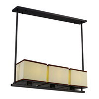 Maxim Lighting Tribeca 3 Light Linear Pendant in Dark Bronze 43813LNDBZ