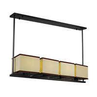 Maxim Lighting Tribeca 4 Light Linear Pendant in Dark Bronze 43814LNDBZ