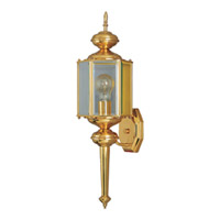 Maxim Lighting Signature 1 Light Outdoor Wall Mount in Polished Brass 4623CLPB photo thumbnail
