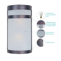 Maxim Lighting Arc 2 Light Outdoor Wall Mount in Oil Rubbed Bronze 5002FTOI alternative photo thumbnail