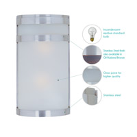 Maxim Lighting Arc 2 Light Outdoor Wall Mount in Stainless Steel 5002FTSST alternative photo thumbnail