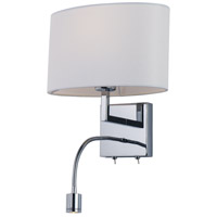 Maxim Polished Chrome Fabric Wall Sconces
