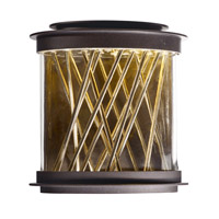 Bedazzle LED 11 inch Galaxy Bronze and French Gold Outdoor Wall Lantern